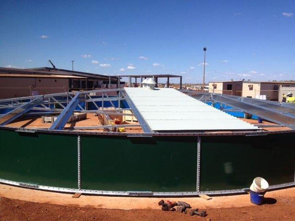 Yandicoogina Mine (Rio Tinto) Potable Water Tank for the Accommodation Camp
